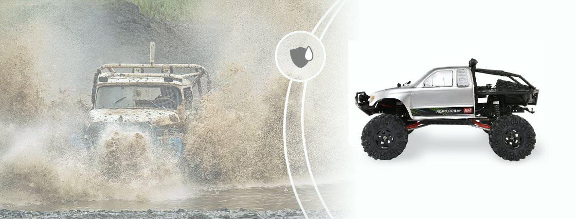 Радиоуправляемый краулер Remo Hobby Trial Rigs Truck 4WD 2.4G 1:10 RH1093-ST с влагозащитой
