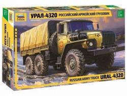 Модель сборная ZVEZDA Российский грузовик Урал 4320, 1:35