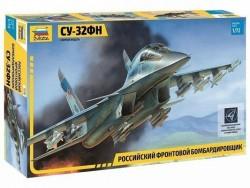Модель Сборная ZVEZDA Российский фронтовой бомбардировщик Су-32ФН, 1:72