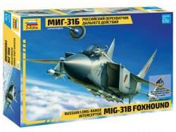 Модель Сборная ZVEZDA Российский перехватчик дальнего действия МИГ-31Б, 1:72
