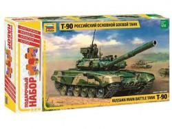 Модель сборная ZVEZDA Российский боевой танк Т-90, набор подарочный, 1:35