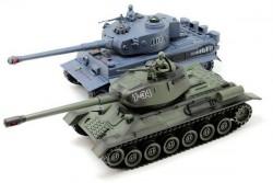 Радиоуправляемый танковый бой Т34 и Tiger Zegan 1:28 2.4G - ZEG-99824