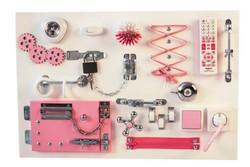 Бизиборд планшет большой розовый (60*40 см)