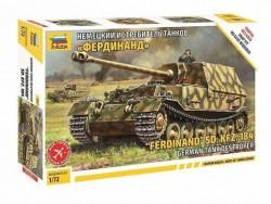 Модель Сборная ZVEZDA Истребитель танков Фердинанд (сборка без клея), 1:72