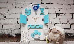 Бизиборд Планшет Домик Голубой (60*40 см)