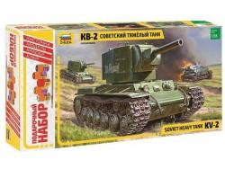 Модель сборная ZVEZDA Тяжелый танк КВ-2, подарочный набор, 1:35