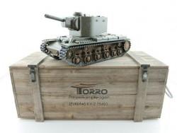Радиоуправляемый танк Torro КВ-2 1/16 2.4G, СССР, зеленый