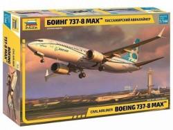Модель сборная ZVEZDA Авиалайнер Пассажирский Боинг 737-8 MAX, 1:144