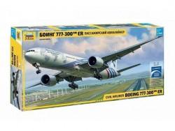Модель сборная ZVEZDA Пассажирский авиалайнер Боинг 777 , 1:144