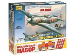 Модель Сборная ZVEZDA Советский истребитель ЛА-5ФН, подарочный набор, 1:48