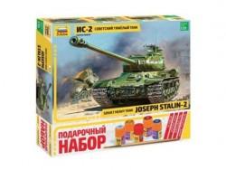 Модель сборная ZVEZDA Советский танк ИС-2, подарочный набор, 1:35