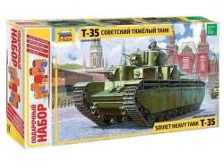 Модель сборная ZVEZDA Тяжелый танк Т-35, подарочный набор, 1/35