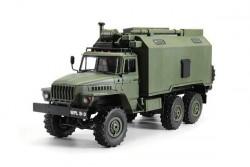 Радиоуправляемый внедорожник HENG LONG Советский военный грузовик Урал 4WD RTR масштаб 1:16 2.4G - HL3853B