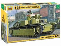 Модель сборная ZVEZDA Советский танк Т-28, 1:35