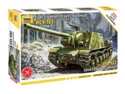 Модель Сборная ZVEZDA Советский истребитель танков ИСУ-122 (сборка без клея), 1:72