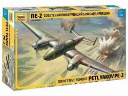Модель сборная ZVEZDA Пикирующий бомбардировщик ПЕ-2, 1:48