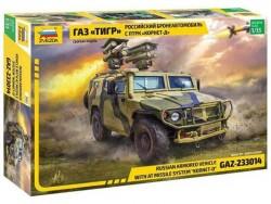 Модель сборная ZVEZDA Бронеавтомобиль ГАЗ ТИГР с ПТРК Корнет-Д , 1:35