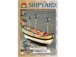 Картонная модель сборная Shipyard барк HMB Endeavour (№33), 1:96