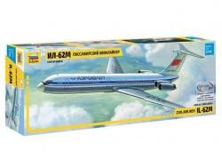 Модель сборная ZVEZDA Пассажирский авиалайнер ИЛ-62М, 1:144
