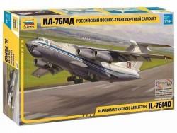 Модель сборная ZVEZDA Военно транспортный самолёт ИЛ 76 МД, 1:144
