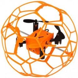 Радиоуправляемый квадрокоптер Helimax Orange SkyWalker в сетке - HM1340