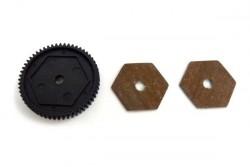 Ведомая шестерня 68T и фрикционные пластины сцепления E10XT/L, E10MT/L. Hi31611