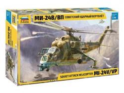 Модель сборная ZVEZDA Ударный вертолет Ми 24В ВП, 1:48