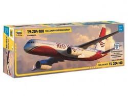Модель сборная ZVEZDA Авиалайнер пассажирский ТУ-204-100, 1:144