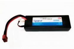 Аккумулятор Li-Po Spard 6000mAh, 7,4V, 30C, T‐plug для Remo Hobby и Himoto 1/10, 1/8. YT1044121PP