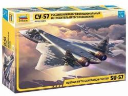 Модель сборная ZVEZDA Российский истребитель пятого поколения Су-57, 1:72