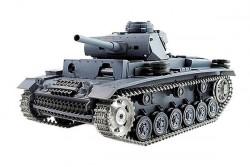 Радиоуправляемый танк Heng Long Panzerkampfwagen III Ausf L SD KFZ 141-1 Pro масштаб 1:16 2.4G - 3848-1Pro V5.3