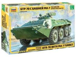Модель Сборная ZVEZDA Бронетранспортер БТР-70 с башней МА-7, 1:35