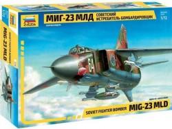 Модель Сборная ZVEZDA Истребитель-бомбардировщик МиГ-23МЛД, 1:72