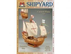 Картонная сборная модель Shipyard каравелла Pinta (№64), 1:96