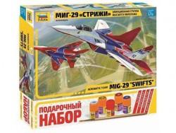 Модель сборная ZVEZDA Авиационная группа МиГ-29 Стрижи, подарочный набор, 1:72