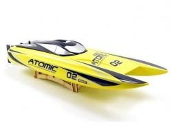 Радиоуправляемый катер катамаран Volantex RC ATOMIC 700 желтый Brushless - EXA79204RY
