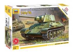 Модель Сборная ZVEZDA Советский танк Т-34/76 (сборка без клея), 1:72