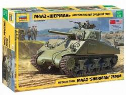 Модель сборная ZVEZDA Американский танк М4А2 Шерман , 1:35