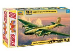 Модель сборная ZVEZDA Дальний бомбардировщик ПЕ-8 1:72