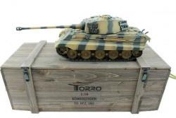 Радиоуправляемый танк Torro King Tiger 2.4G металл деревянная коробка