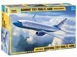 Модель сборная ZVEZDA Авиалайнер Пассажирский Боинг 737-700 С-40B, 1:144