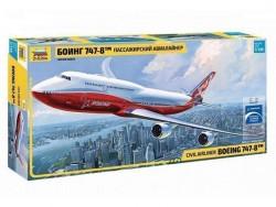 Модель Сборная ZVEZDA Пассажирский авиалайнер Боинг 747-8, 1:144