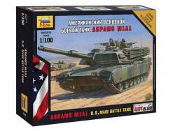 Модель Сборная ZVEZDA Американский боевой танк Абрамс М1А1, 1:100