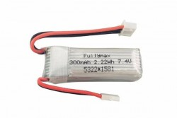 Аккумуляторная батарея LiPo 300 mah 7.4V 2S для самолетов XK, A600, A700, A800, A430, WLToys, F959