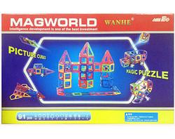 Магнитный конструктор MagWorld 91 деталь