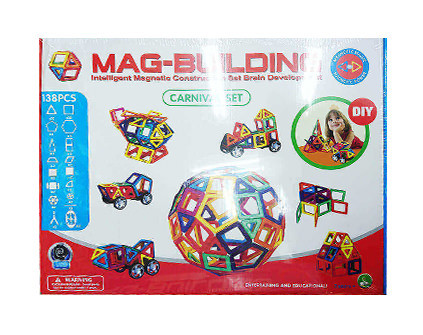 Магнитный конструктор Mag-Building 138 деталей - купить недорого в СПб в интернет-магазине