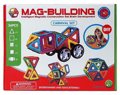 Магнитный конструктор Mag-Building 36 деталей - купить недорого в СПб в интернет-магазине