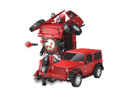 Радиоуправляемый робот-трансформер Jeep Rubicon Red 1:14 2329PF - купить недорого в СПб в интернет-магазине
