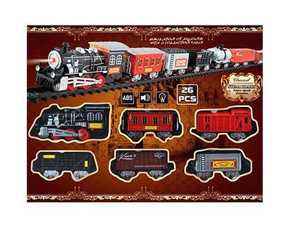 Железная дорога со звуком и огнями (26 деталей) TTR-0020-01 - купить недорого в СПб в интернет-магазине