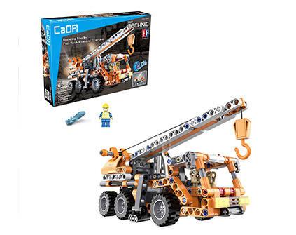 Конструктор строительный кран c пружинным механизмом Cada Technic C52013W - купить недорого в Санкт-Петербурге в интернет-магазине